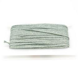 Flechtkordel Glitzer 5mm mint