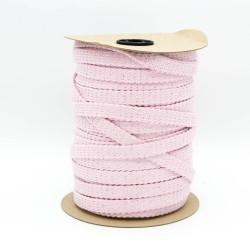 Baumwollkordel Hoodieband 20mm flach metallic rosa