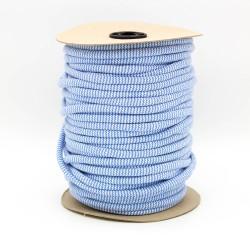 Baumwollkordel Hoodieband Zick Zack 10mm jeans weiß