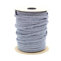 Baumwollkordel Hoodieband Zick Zack 10mm navy weiß