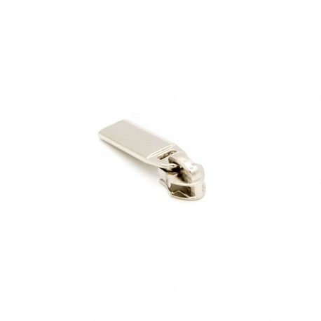 Zipper für 5,9mm endlos Spiralreißverschluss Metalloptik silber