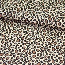 Stoff Viscose Leopardenmuster beige Leo
