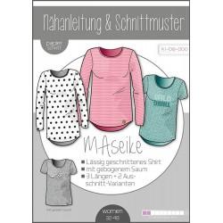 Shirt MAseike - DIN A 0 Schnittmuster und Anleitung als Broschüre