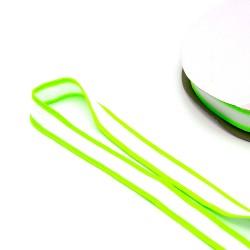 Band gestreift - Galonband -  25mm weiß neon grün