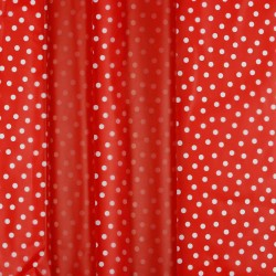 Regenjackenstoff Rainy Dots rot