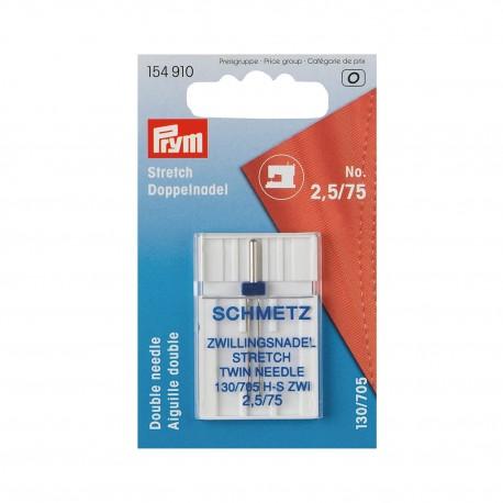 """Schmetz/Prym Doppel-Nähmaschinennadel """"Stretch"""", 130/705, 75/2,5mm"""