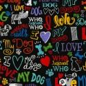 Baumwollstoff Timeless Treasure I love my Dogs by Gail Gadden