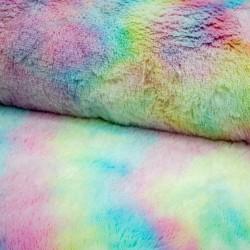 Edelkunstpelz Fellimitat Tie Dye Faux Mint Rosa