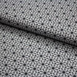 Stoff Baumwolle Sew Love - Schere Knopf schwarz weiß