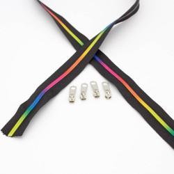 Regenbogen Reißverschluss endlos 3mm Schiene + 3 Zipper