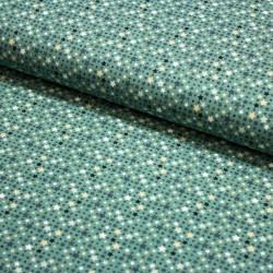 Baumwoll-Jersey Mini Sterne und Punkte mint