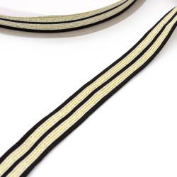 Band gestreift - Galonband Glitzer -  25mm silber rot weiß royal