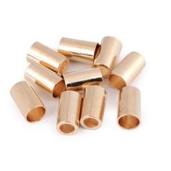 Kordelende  15mm lang - Lochdurchmesser 5,5mm/8mm - rosa gold