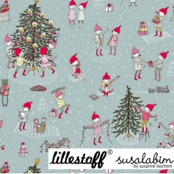 BIO French Terry Sweat Stoff Wichtelweihnachten - Lillestoff