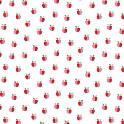 beschichtete Baumwolle Lovely Apple weiß
