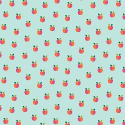 beschichtete Baumwolle Lovely Apple aqua